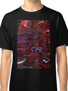 Red Marble Swirl Classic T-Shirt