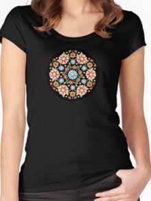 Millefiori Floral Women's Fitted Scoop T-Shirt