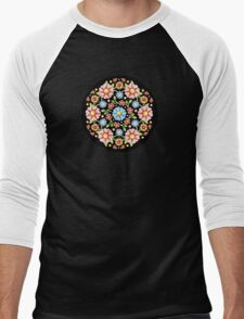 Millefiori Floral Men's Baseball ¾ T-Shirt