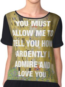 The Kiss x Pride & Prejudice Chiffon Top