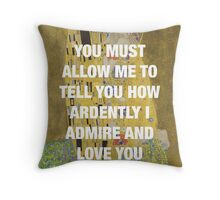The Kiss x Pride & Prejudice Throw Pillow