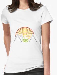 Geometric Landscape Womens Fitted T-Shirt