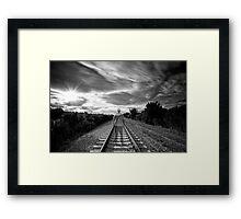 Train Man Framed Print