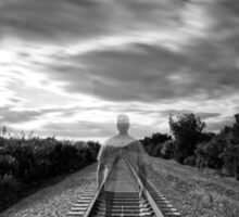 Train Man Sticker