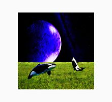 Surreal Whale jumping to Moon Unisex T-Shirt