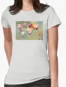 Life In Flowers Womens Fitted T-Shirt