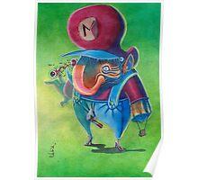 Mario - Super Mario bros 2 Nintendo Poster