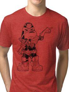 Judge Hajime - Black on Colour Tri-blend T-Shirt