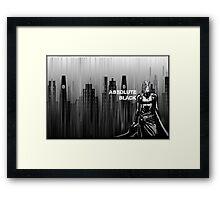 absolute black Framed Print