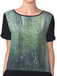 Water Droplets Chiffon Top