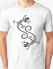 Beautiful stylized black geckos T-Shirt