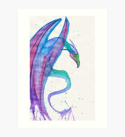 Watercolor Rawr Art Print