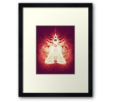 Chakras symbols and energy flow on human body art photo print Framed Print