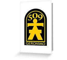 509th Airborne Infantry Greeting Card
