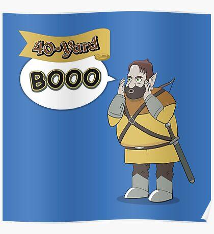40-Yard Booo Poster