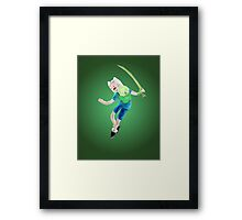 Yut! Finn the Human and the grass sword | Adventure Time Framed Print