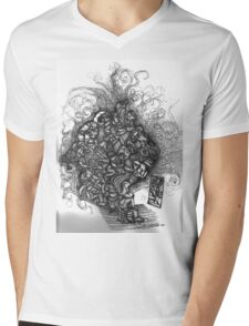 Looking Out Looking In Mens V-Neck T-Shirt