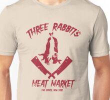Three Rabbits Meat Market Unisex T-Shirt