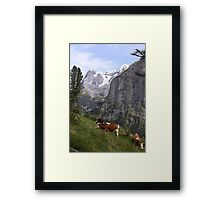 View of the Eiger from Mürren Framed Print