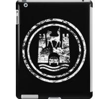 Wolfsburg Logo (Distressed - White) iPad Case/Skin