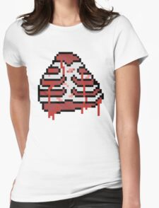 Torn Chest Cavity - 8-Bit Womens Fitted T-Shirt