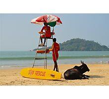 India Goa - Rescue team Photographic Print