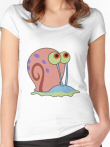 gary the snail Women's Fitted Scoop T-Shirt
