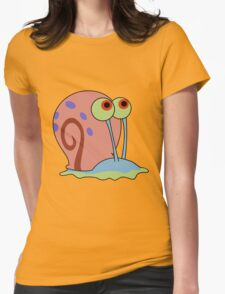 gary the snail Womens Fitted T-Shirt