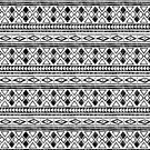 Black and White African Pattern by ArtVixen