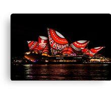 Sydney Vivid 10 Dot Art 3 Canvas Print