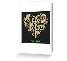 Hockey Heart (Vegas Gold) Greeting Card