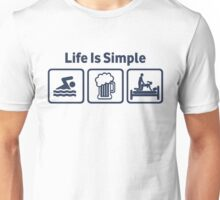 Funny Swimming Life Is Simple T Shirt Unisex T-Shirt