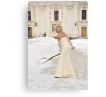 White Wedding Canvas Print