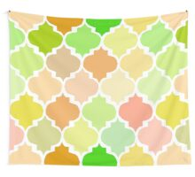 Moroccan,quatrefoil,green,yellow,mint,brown,beige,cream,modern,trendy,pattern Wall Tapestry