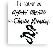 Chasing Dragons With Charlie Weasley Metal Print