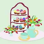 Afternoon Tea with cupcakes by slaterkerry
