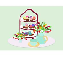 Afternoon Tea with cupcakes Photographic Print