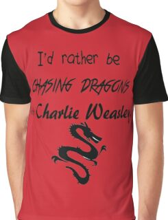 Chasing Dragons With Charlie Weasley Graphic T-Shirt