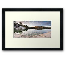 Autumn Nature Lake Rocks and Trees KIllarney Ontario Panorama art photo print Framed Print