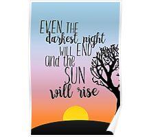 Les Miserables Sunrise Quote Poster