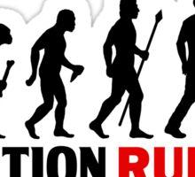 Running Evolution Of Man Funny T Shirt Sticker