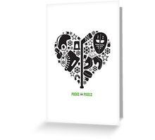 Hockey Heart (Black) Greeting Card