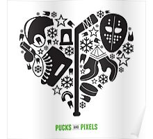 Hockey Heart (Black) Poster