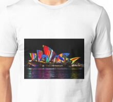 Sydney Vivid 12 Birds In The Landscape Unisex T-Shirt