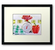 Red Pepper Scale Framed Print