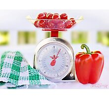 Red Pepper Scale Photographic Print