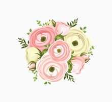 Painted,peonies,floral,flowers,pink,peach,green,yellow,modern Unisex T-Shirt