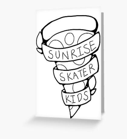 Sunrise Skater Kids Greeting Card