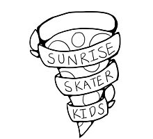 Sunrise Skater Kids Photographic Print