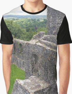 Dinefwr Castle Among the Rolling Welsh Hills  Graphic T-Shirt